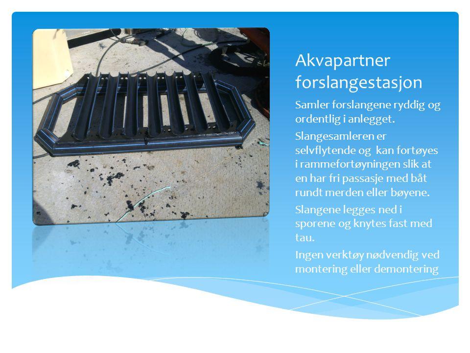 Akvapartner forslangestasjon Samler forslangene ryddig og ordentlig i anlegget.