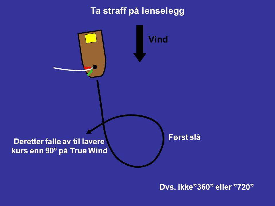 """Ta straff på krysslegg Først jibbe Deretter loffe til bidevindskurs Dvs. ikke""""360"""" eller """"720"""" Vind"""