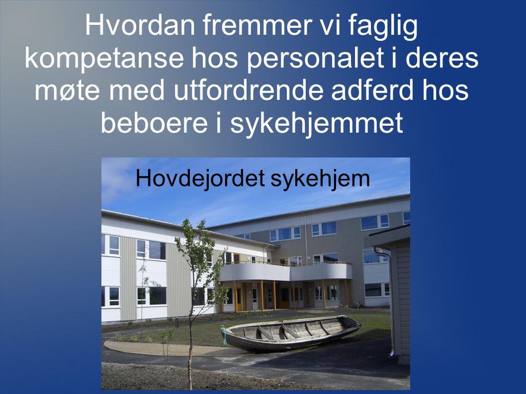 Hvordan fremmer vi faglig kompetanse hos personalet i deres møte med utfordrende adferd hos beboere i sykehjemmet Hovdejordet sykehjem