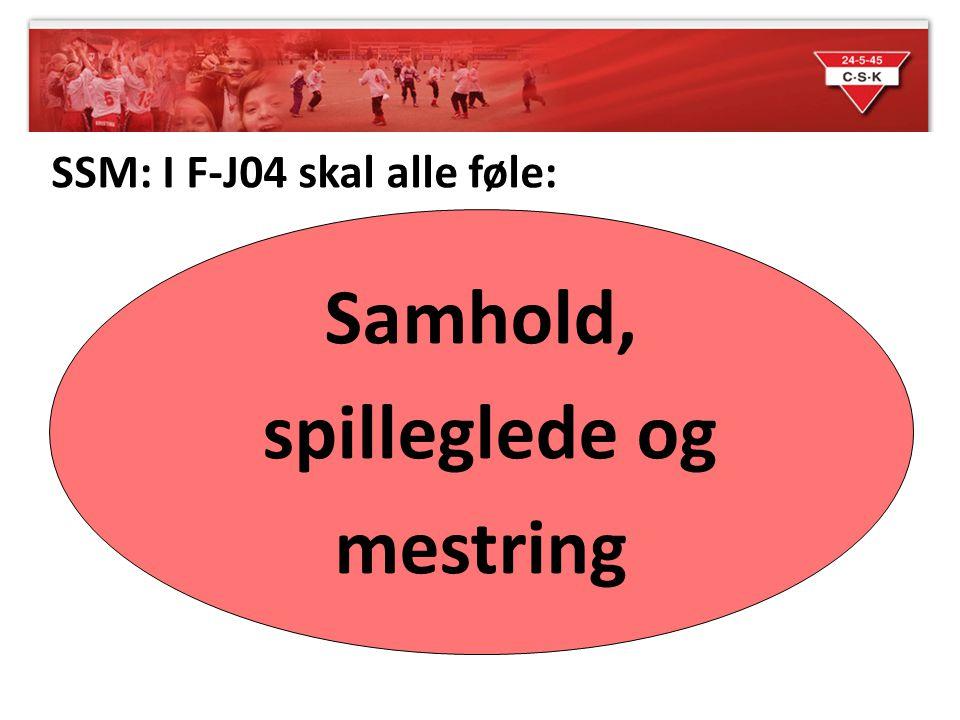 SSM: I F-J04 skal alle føle: Samhold, spilleglede og mestring