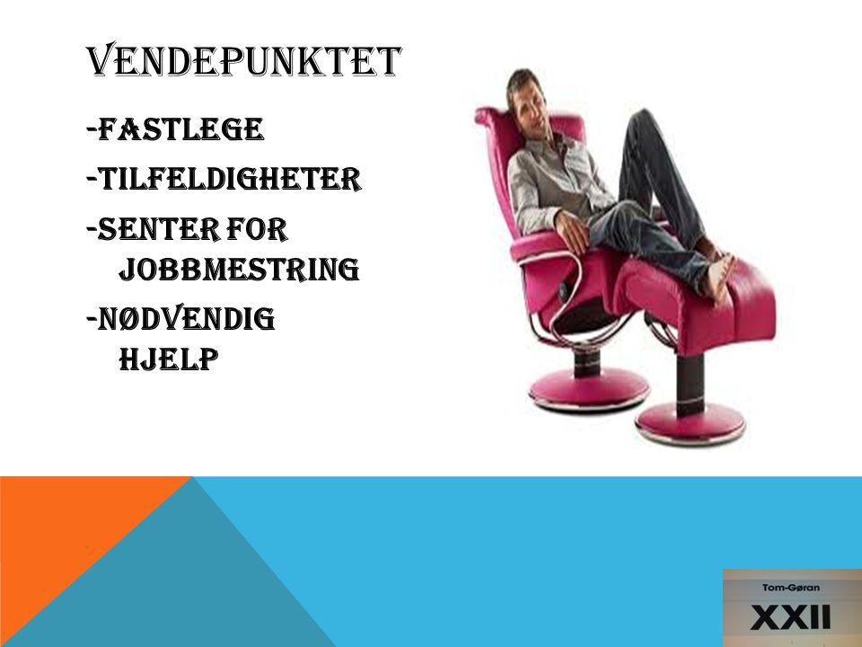 -FASTLEGE -TILFELDIGHETER -Senter For Jobbmestring -Nødvendig hjelp VENDEPUNKTET