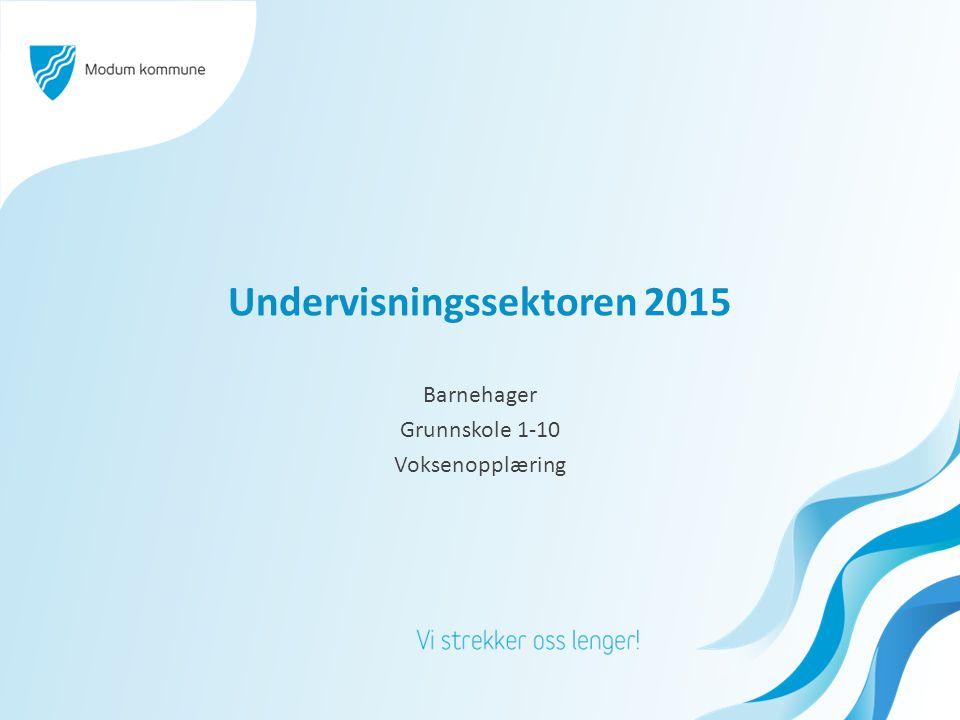 Undervisningssektoren 2015 Barnehager Grunnskole 1-10 Voksenopplæring