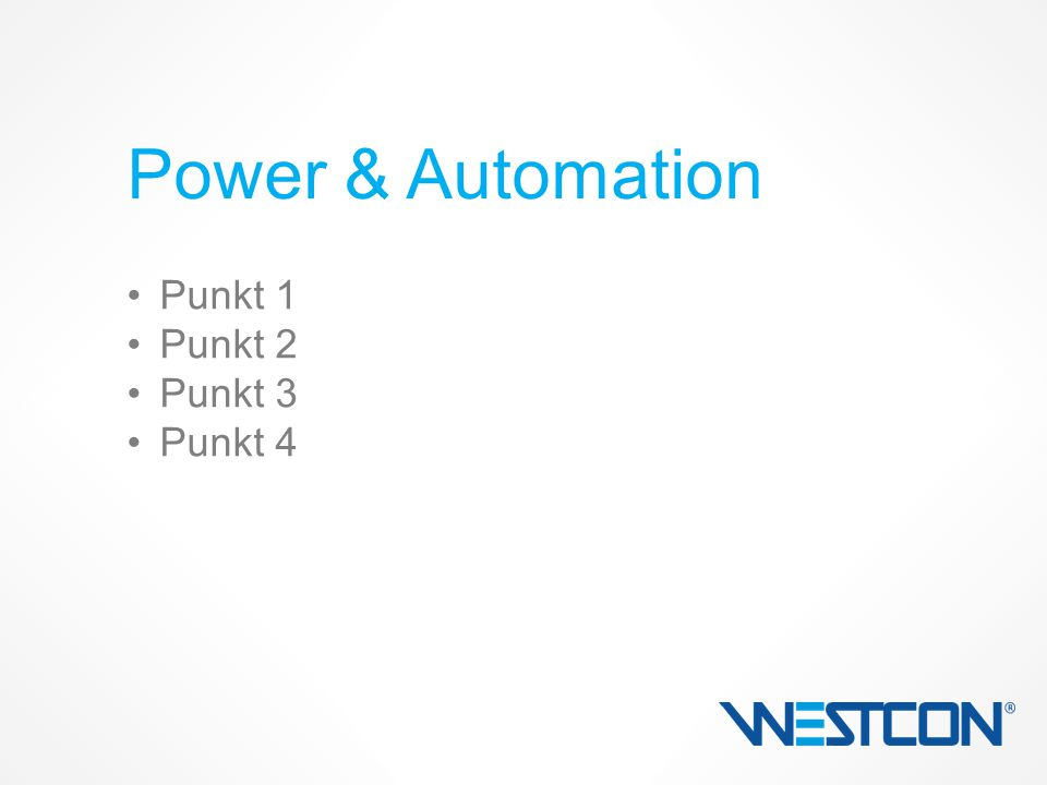 Punkt 1 Punkt 2 Punkt 3 Punkt 4 Power & Automation