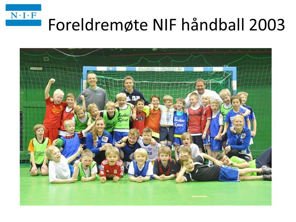 Foreldremøte NIF håndball 2003 Niffen 17.30