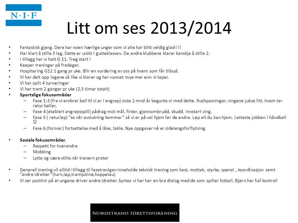 Litt om ses 2013/2014 Fantastisk gjeng.