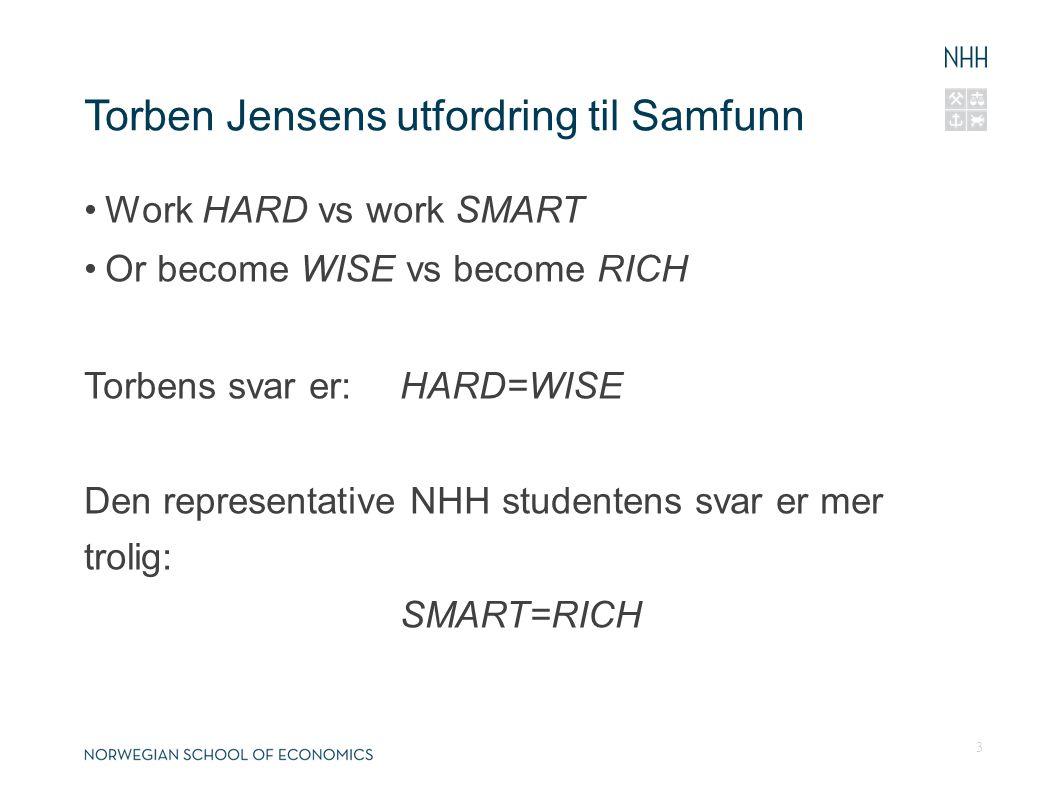 Samfunn er nok mer på linje med Torben Hvordan få fokuset fra SMART til HARD.