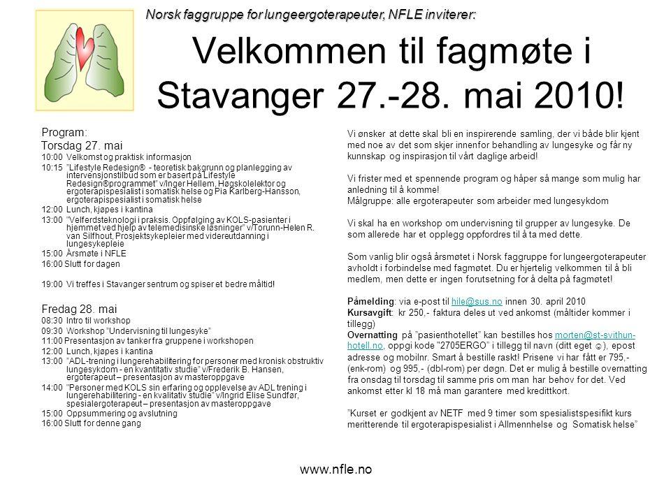www.nfle.no Velkommen til fagmøte i Stavanger 27.-28.
