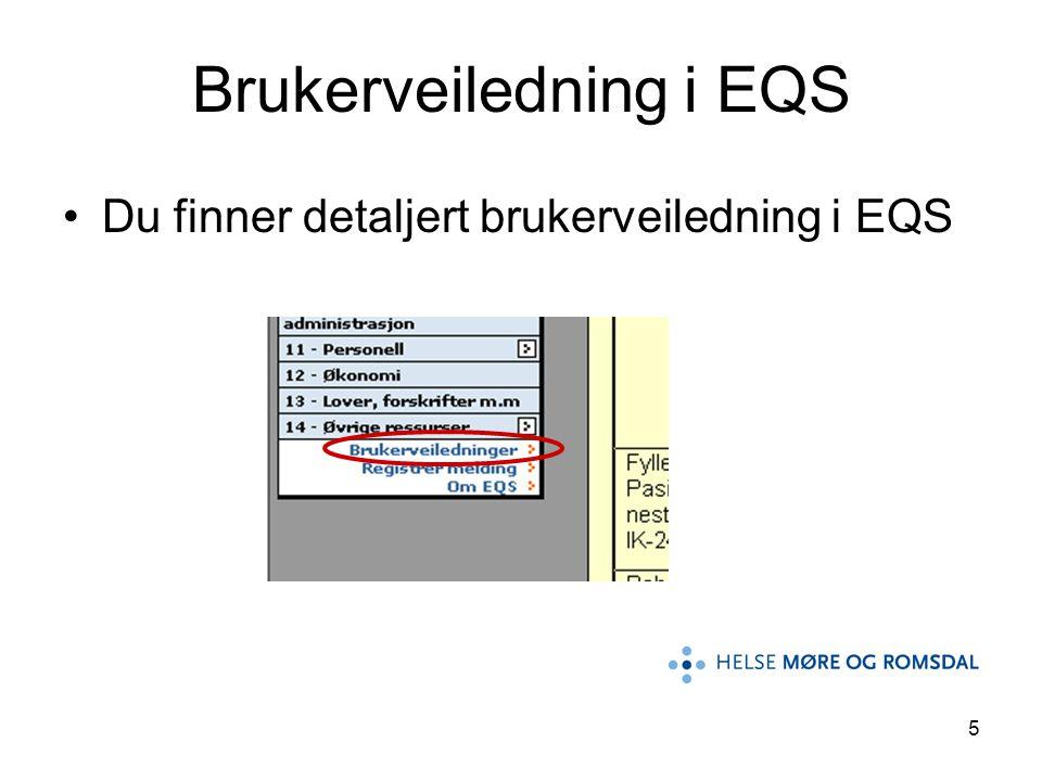 5 Brukerveiledning i EQS Du finner detaljert brukerveiledning i EQS
