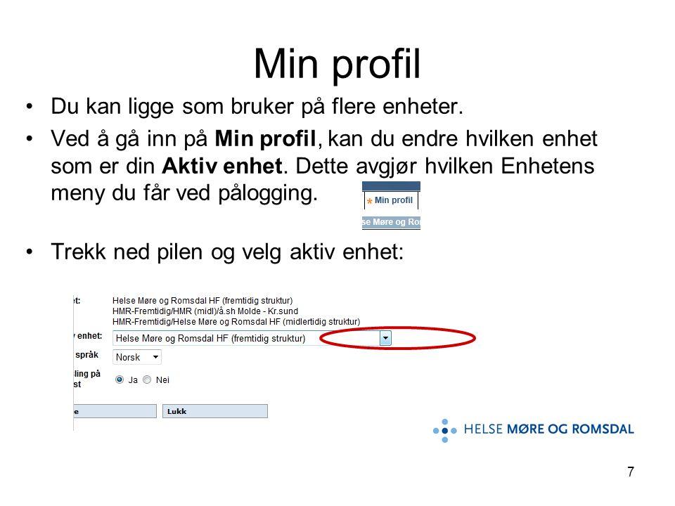 28 Kvalitetsrådgivere i Fagavdelinga Unni Arnestad, tlf.