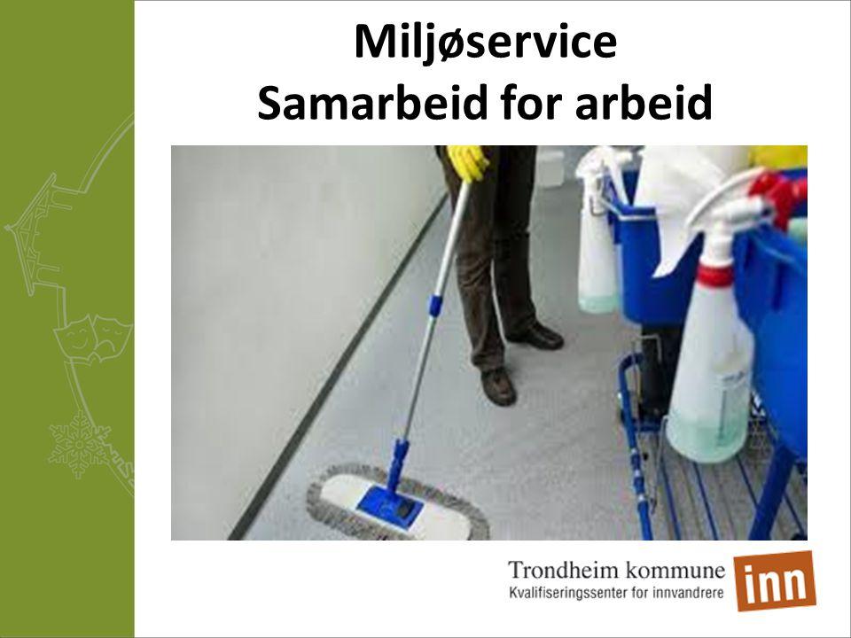 Miljøservice Samarbeid for arbeid