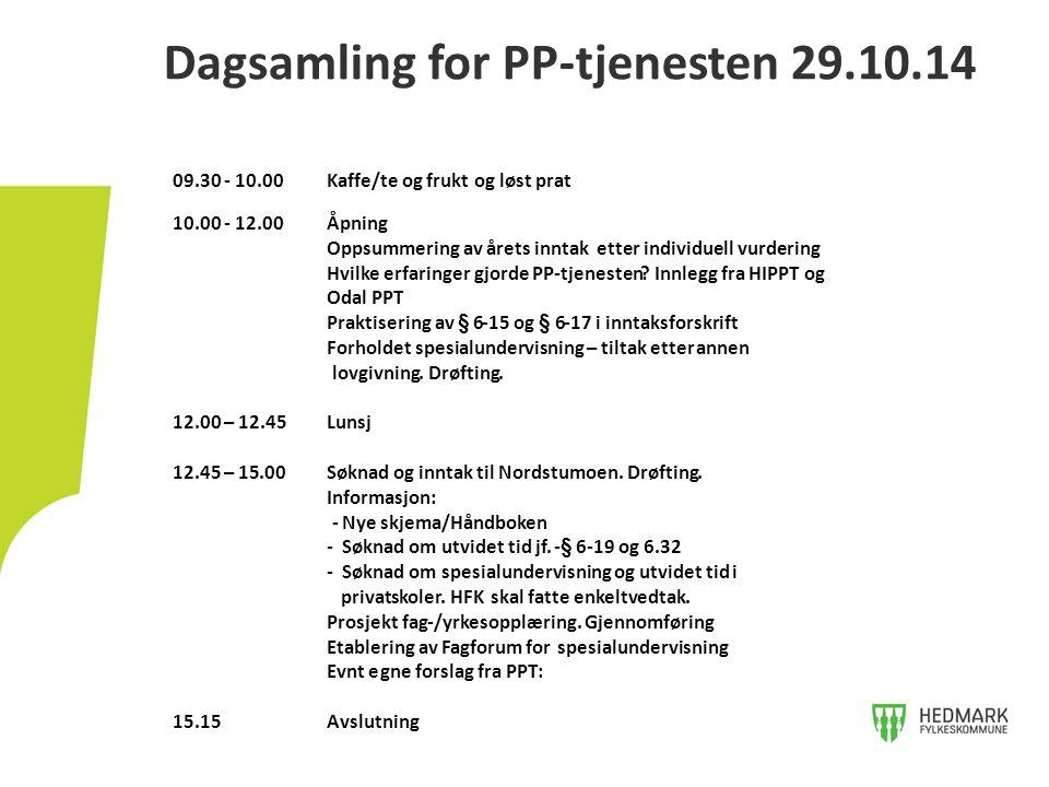 Dagsamling for PP-tjenesten 29.10.14