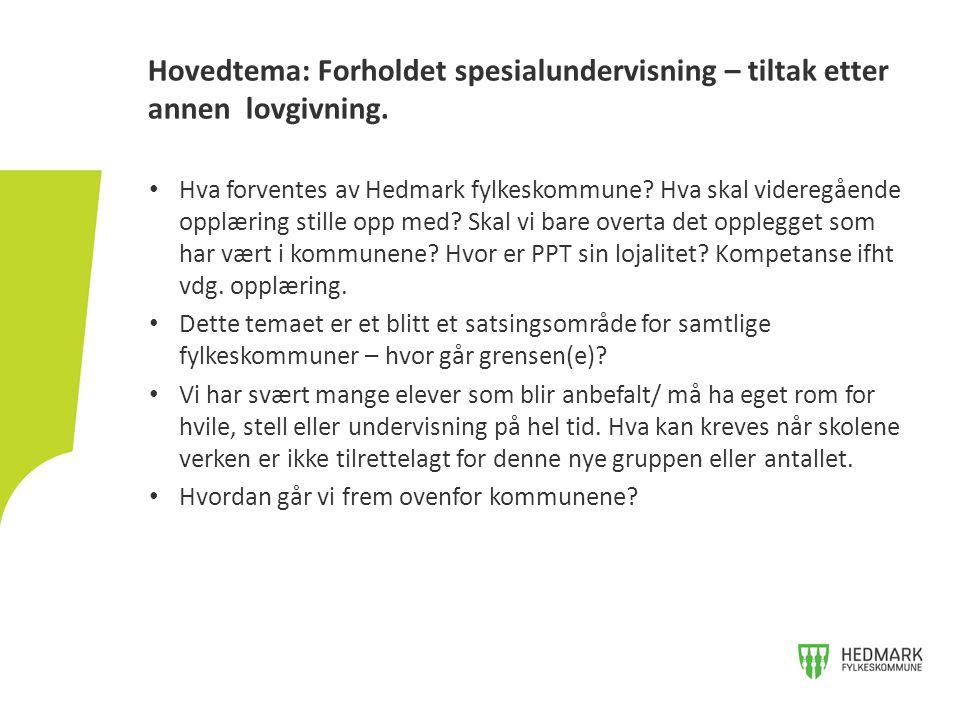 Hva forventes av Hedmark fylkeskommune. Hva skal videregående opplæring stille opp med.