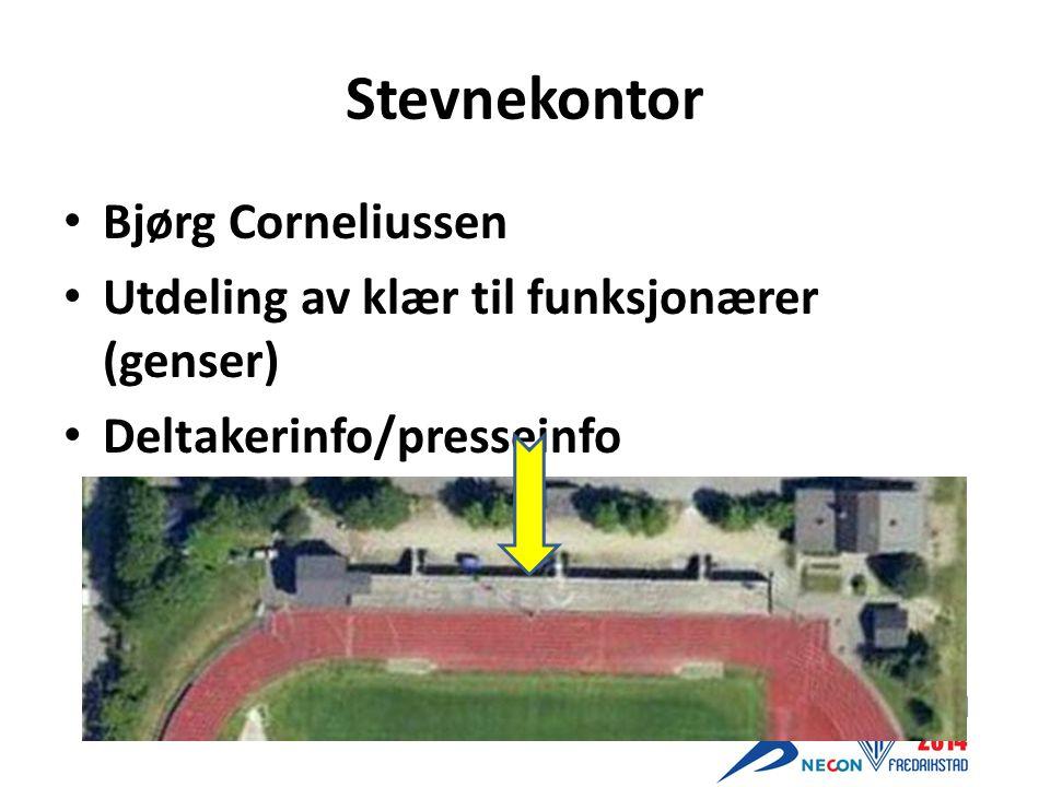 Stevnekontor Bjørg Corneliussen Utdeling av klær til funksjonærer (genser) Deltakerinfo/presseinfo