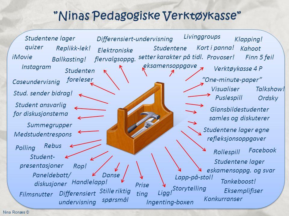 2 Ninas Pedagogiske Verktøykasse One-minute-paper Studentene setter karakter på tidl.