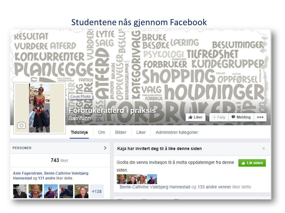 Studentene nås gjennom Facebook