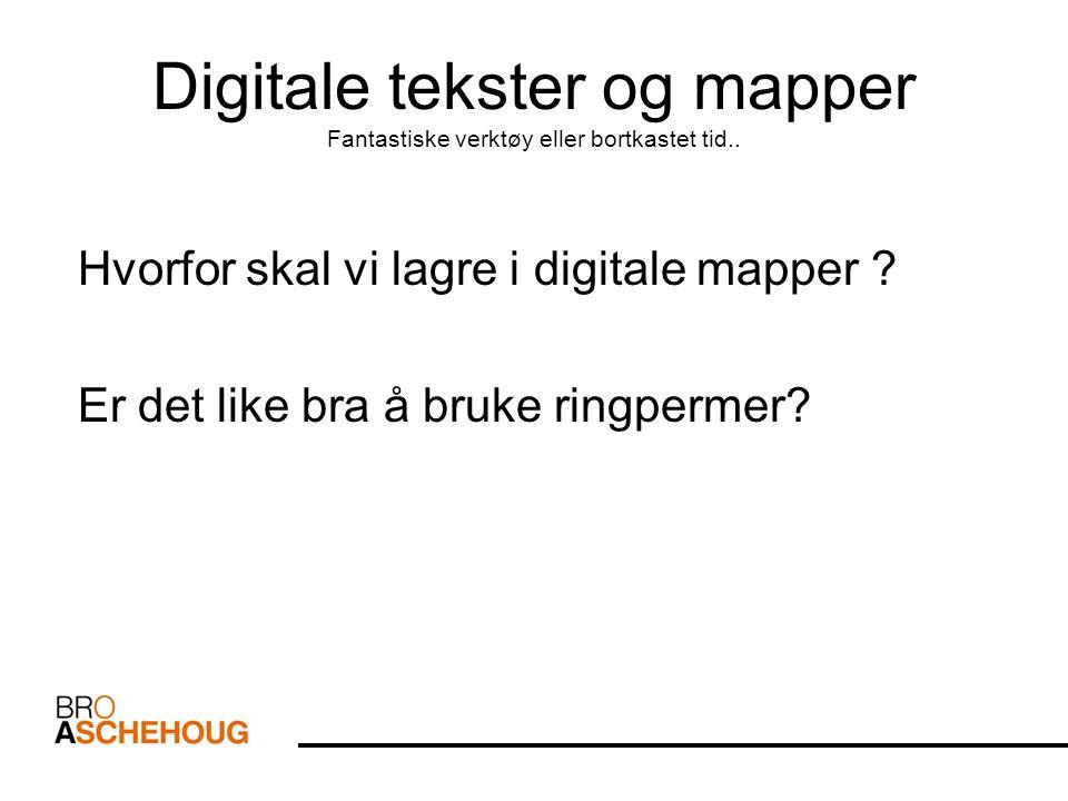 Digital kompetanse og digital mappevurdering