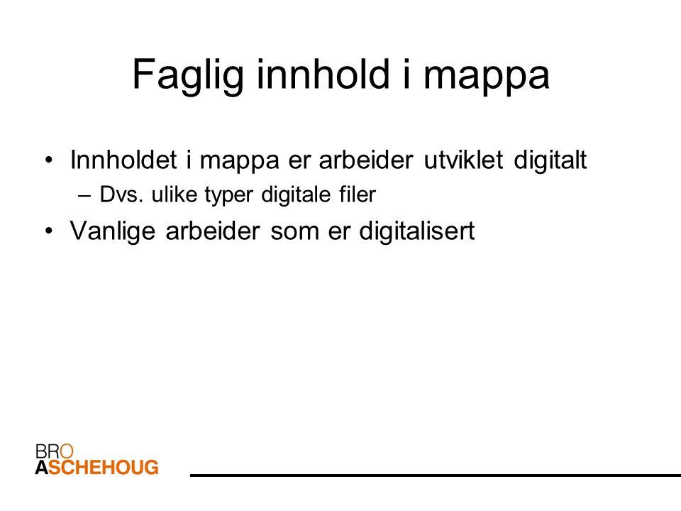 Digital dokumentasjon & digitale arbeider Vi kan dokumenterer læring og utvikling gjennom: – Tekst – Bilde – Video – Animasjoner – Presentasjoner – Lyd – mm