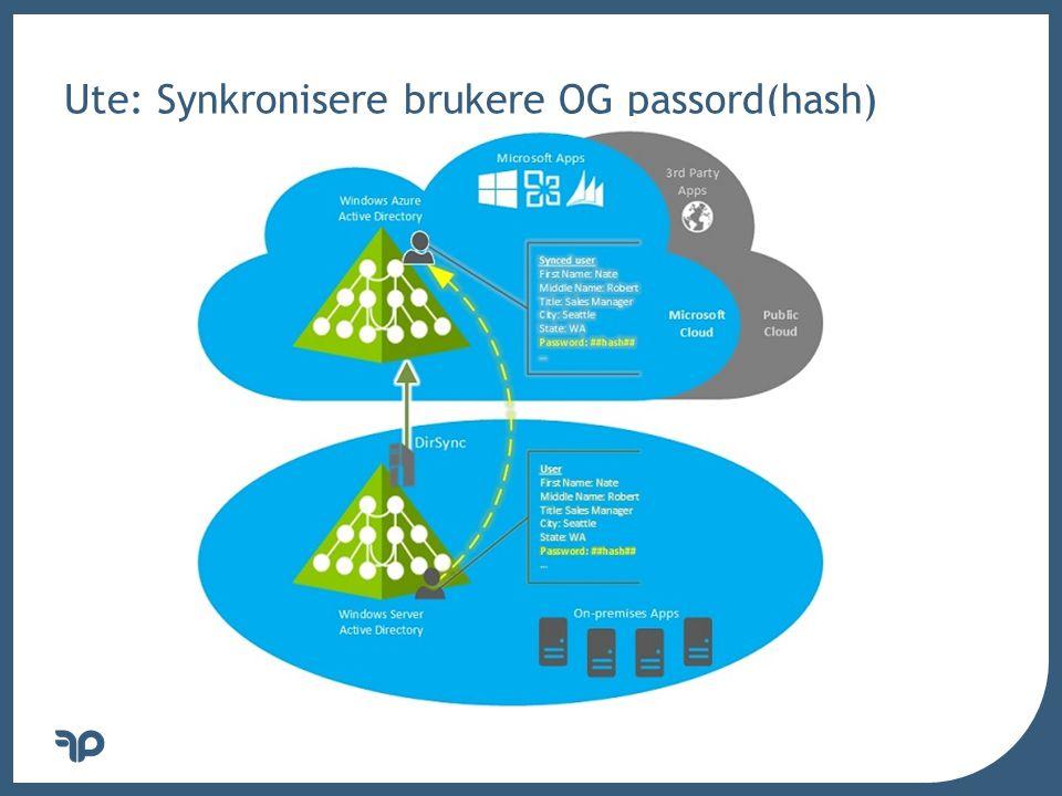 v Ute: Synkronisere brukere OG passord(hash)