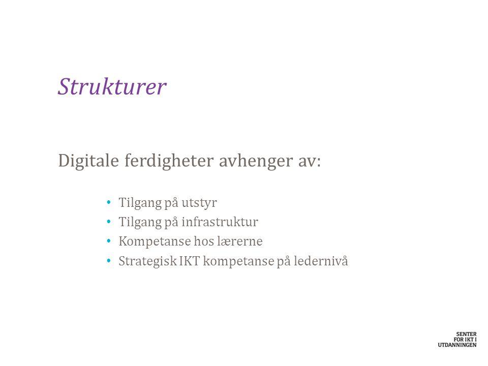 IKT-strategi Viktig for å kunne imøtekomme krav, behov og holde kvaliteten ved like Fundamentering: KS sin digitale strategi 2013 -2017 – Lokal kommunal strategi » Skolens egen IKT-strategi » Strategi for digitale ferdigheter
