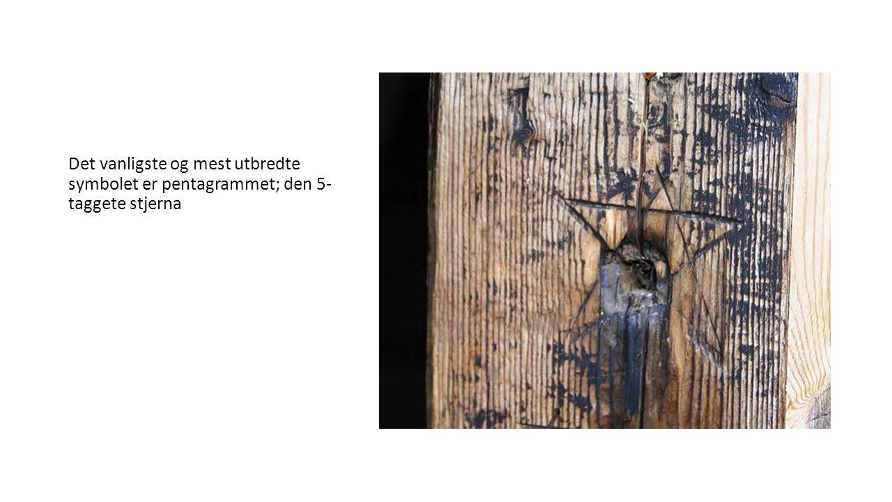 Det vanligste og mest utbredte symbolet er pentagrammet; den 5- taggete stjerna