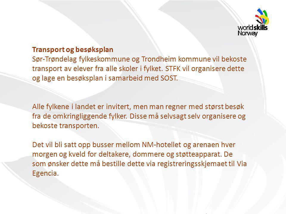 Transport og besøksplan Sør-Trøndelag fylkeskommune og Trondheim kommune vil bekoste transport av elever fra alle skoler i fylket.
