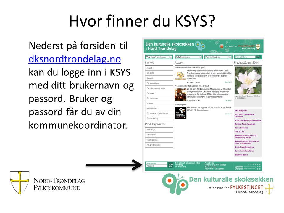 Hvor finner du KSYS.