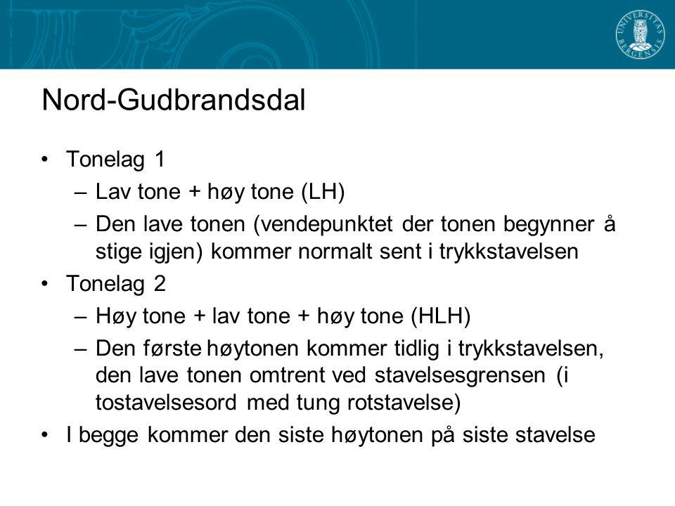 Tonegang i Nord-Gudbrands- dal og i Älvdalen