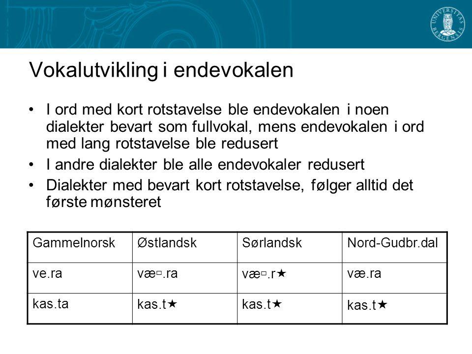 Overvekt Det normale trykkmønsteret vi finner i ord med lang (tung) trykkstavelse De fleste dialekter i Norge og Sverige har gjennomgått den såkalte k