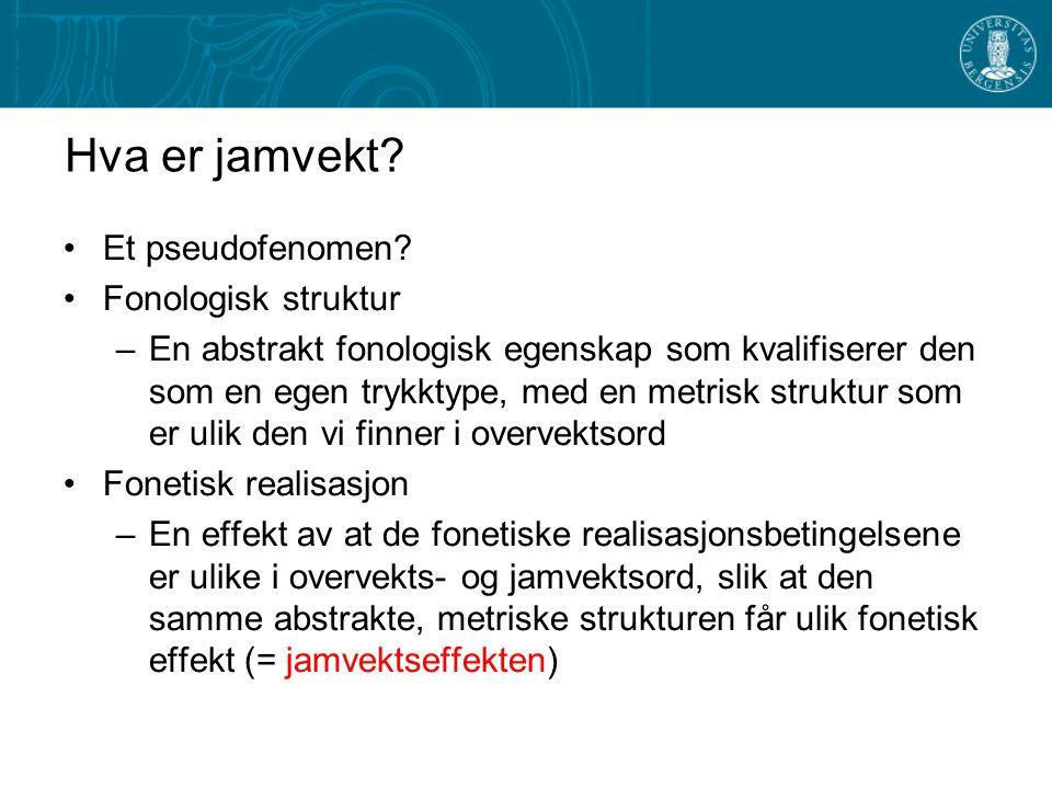 Eksempler på overvekt og jamvekt fra Nord- Gudbrandsdal og Älvdalen NorrøntNord- Gudbrandsdal Älvdalen Lang rotstavelse ken.na 2 .  2 .  Kort