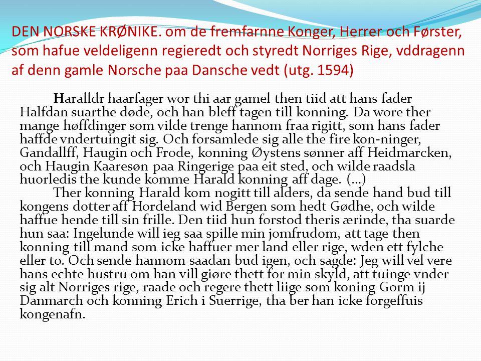 DEN NORSKE KRØNIKE.