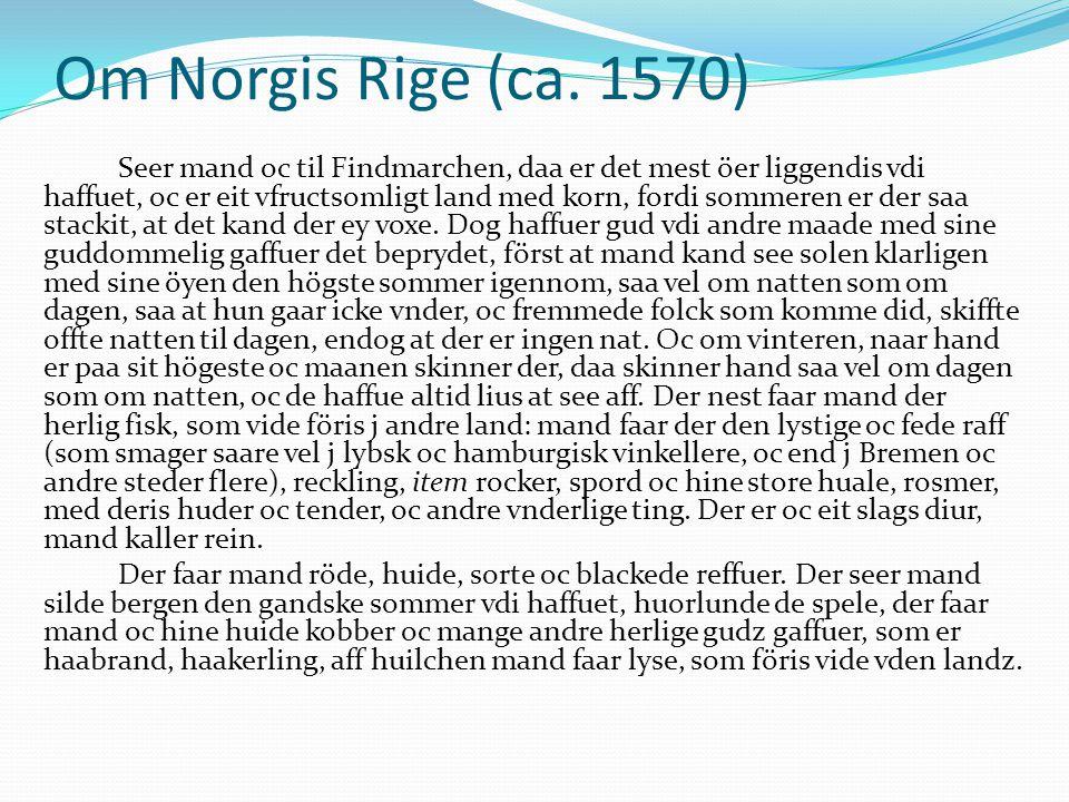 Om Norgis Rige (ca.