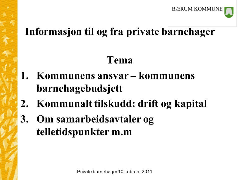 Private barnehager 10. februar 2011 Gratulere med brukerundersøkelsen! 5,3