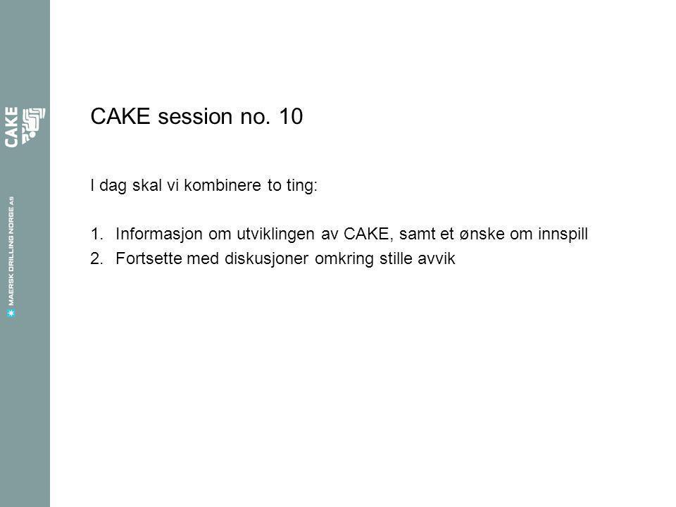 CAKE session no.