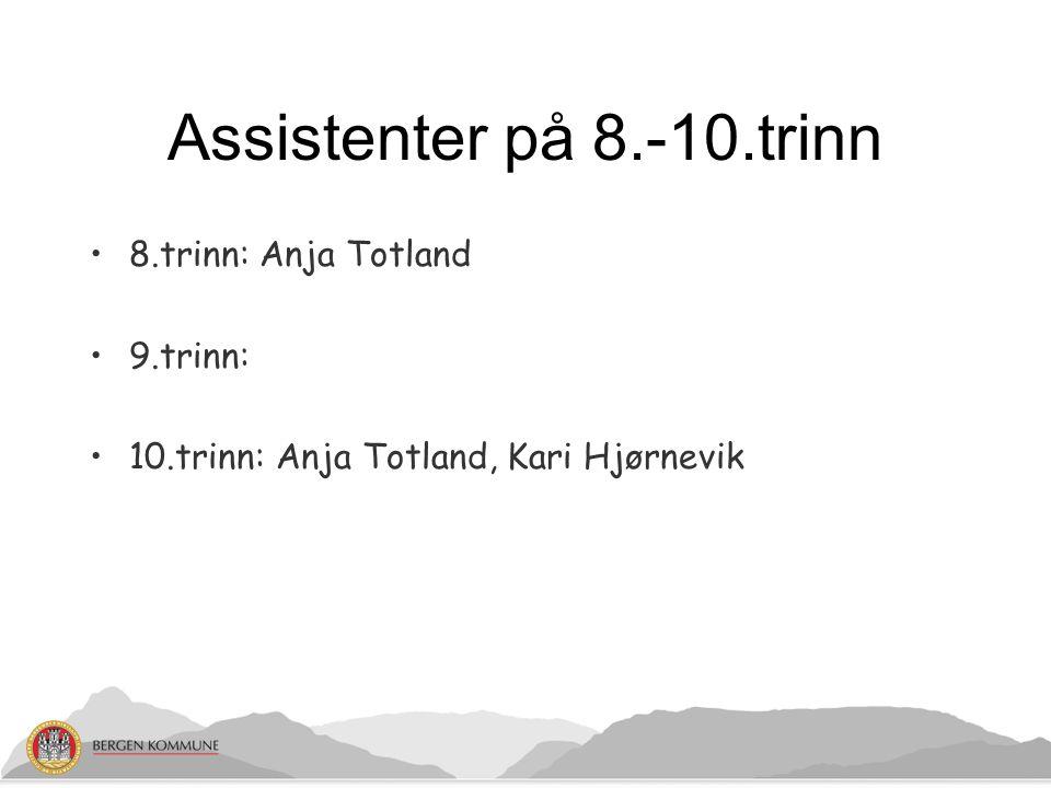 Praktisk informasjon: Terminer: Høst 16.08.12 - 18.01.13 Vår 21.01.13 - 21.06.13 Valg av klassekontakter