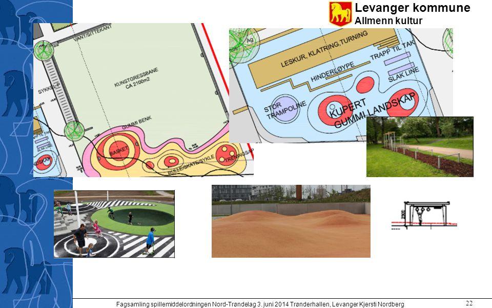 Levanger kommune Allmenn kultur Fagsamling spillemiddelordningen Nord-Trøndelag 3. juni 2014 Trønderhallen, Levanger Kjersti Nordberg 22