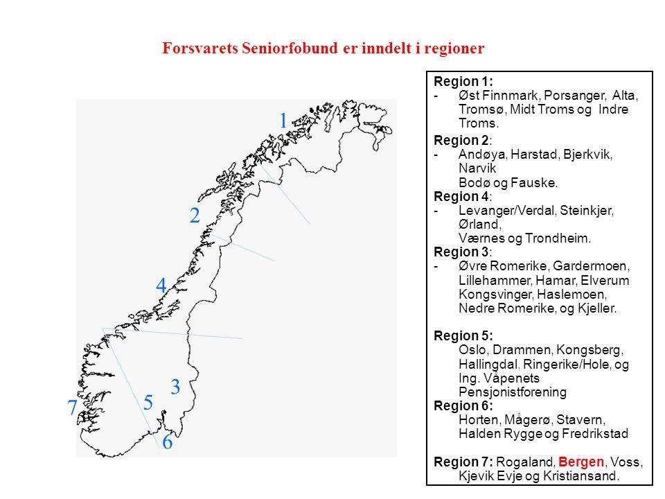 Region 1: -Øst Finnmark, Porsanger, Alta, Tromsø, Midt Troms og Indre Troms.