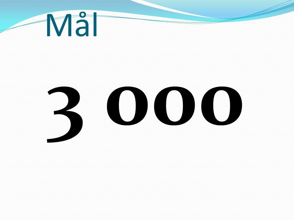 Mål 3 000