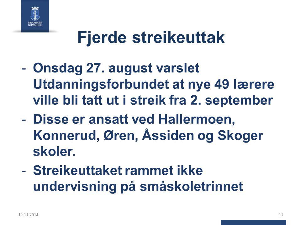 Fjerde streikeuttak -Onsdag 27.