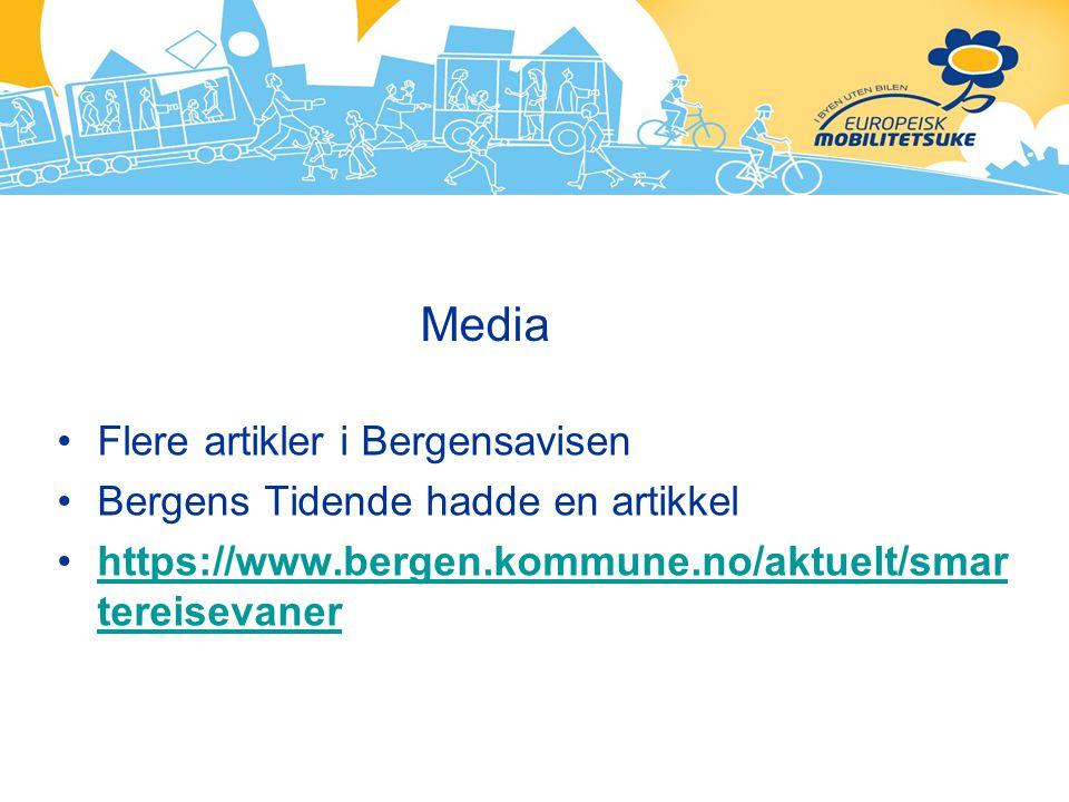 Media Flere artikler i Bergensavisen Bergens Tidende hadde en artikkel https://www.bergen.kommune.no/aktuelt/smar tereisevanerhttps://www.bergen.kommu