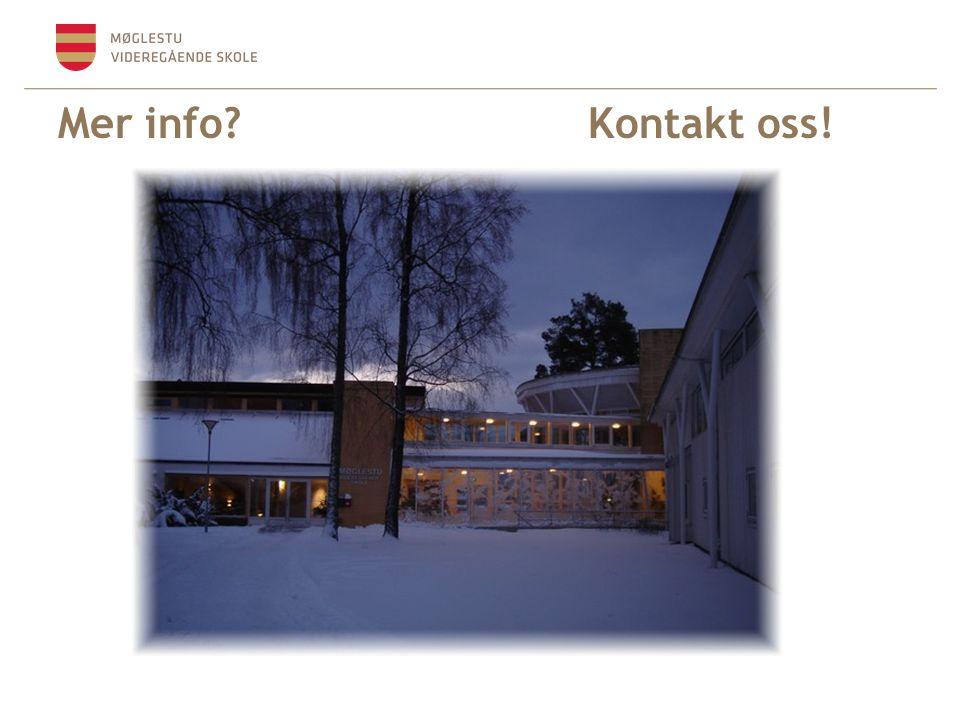 Mer info? Kontakt oss!