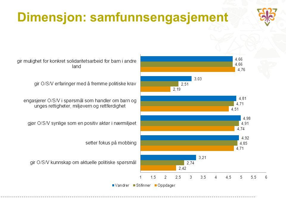 Dimensjon: samfunnsengasjement