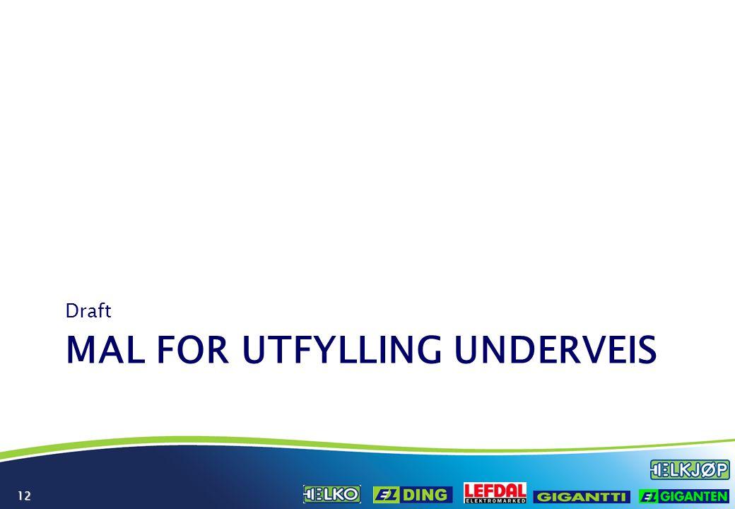 12 MAL FOR UTFYLLING UNDERVEIS Draft