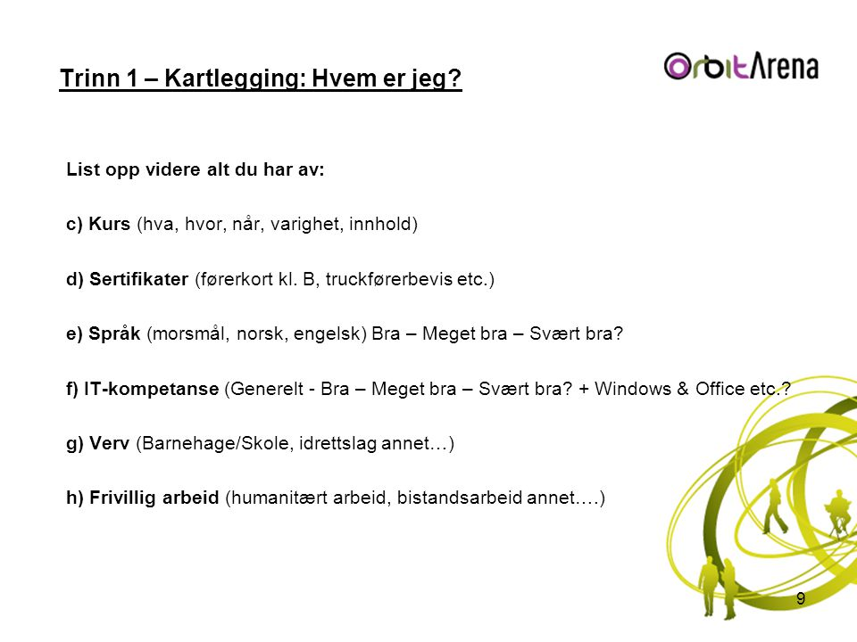 Trinn 3 - Tiltak: Aktiviteter – Intervju -Møt presist, kom ca.