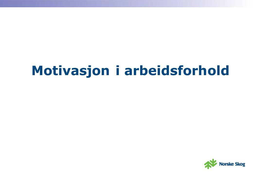 Motivasjon i arbeidsforhold