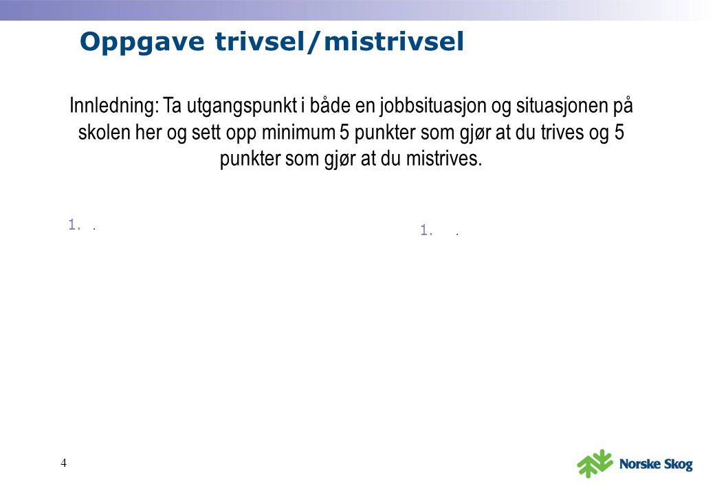 Oppgave trivsel/mistrivsel 1..