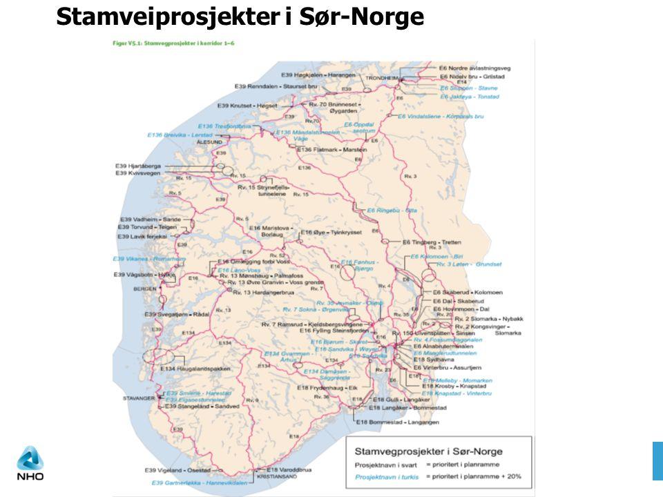 Stamveiprosjekter i Sør-Norge