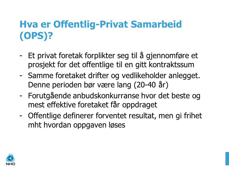 Hva er Offentlig-Privat Samarbeid (OPS).