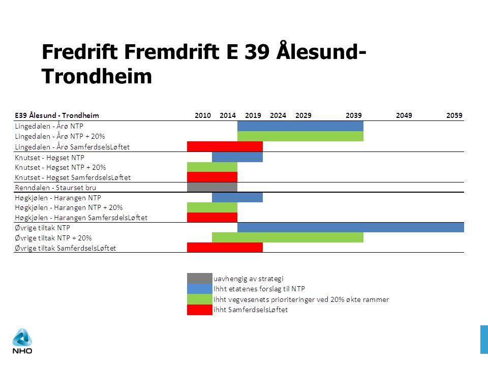 Fredrift Fremdrift E 39 Ålesund- Trondheim
