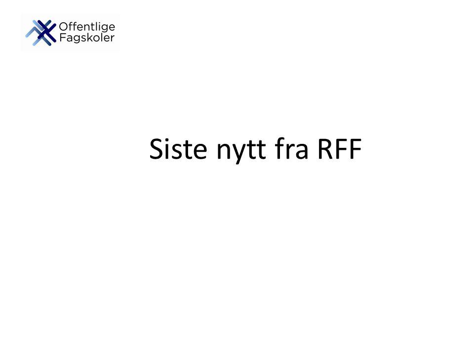 Siste nytt fra RFF