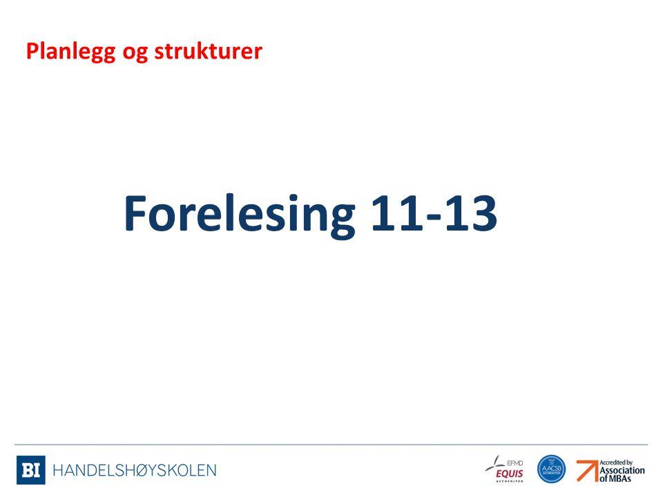 Forelesing 11-13 Planlegg og strukturer